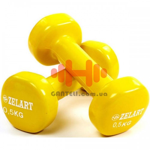 Гантели для фитнеса Zelart 2х0,5 кг, код: TA-5225-0.5