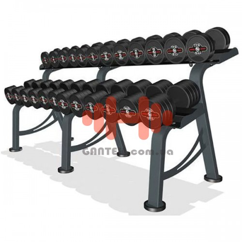 Гантельный ряд Marbo-Sport 6 пар (10-20 кг.), art: MP-HSGK4-M