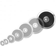 Комплект дисков Torneo 108 кг (обрезиненный D=30 мм), код: 1022-XXH