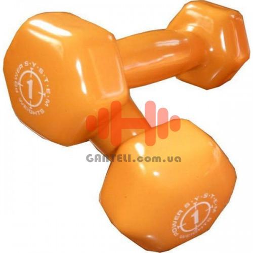 Гантель для фитнеса Power System 2х1 кг, код: PS-4024