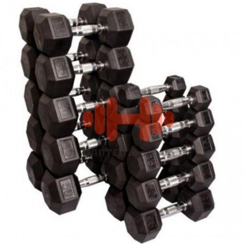 Гантельный ряд Tunturi 10 пар (1-10 кг.), art: 14TUSCL200-X