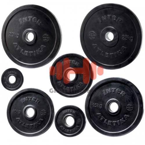 Комплект дисков InterAtletika 105 кг (обрезиненные D=50 мм), код: LCA022-028