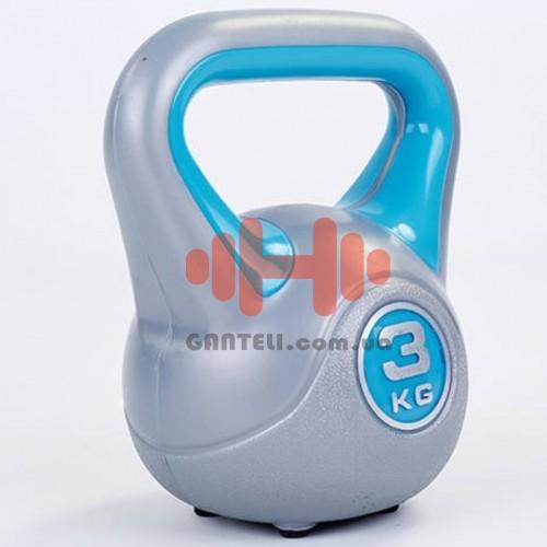 Гиря в пластиковой оболочке LiveUp 3 кг., код: LS2047-3
