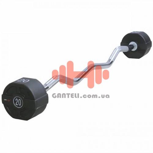 Штанга фиксированная Lifemaxx 10-40 кг., код: LMX74.W