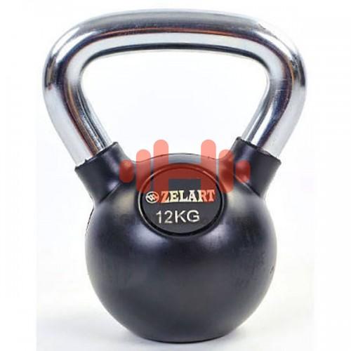 Гиря обрезиненная Zelart 12 кг., art: TA-5162-12