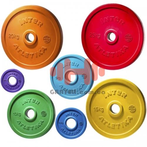 Комплект дисков InterAtletika 105 кг (обрезиненные D=50 мм), код: LCA029-035