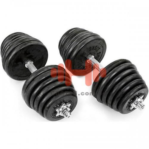 Гантели CrossGym 2х25 кг, код: TA-1436-50R