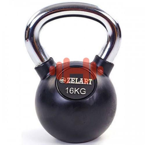 Гиря обрезиненная Zelart 16 кг., art: TA-5162-16