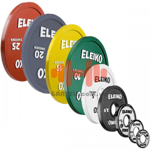 Комплект дисков Eleiko 159 кг (металл D=50 мм), код: 300023X