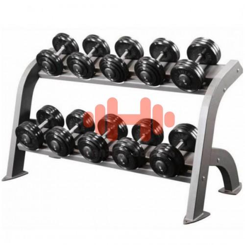 Гантельный ряд InterAtletika Gym 6 пар (10-20 кг.), art: ST550.3