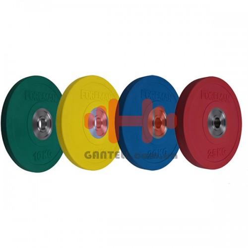 Комплект дисков Foreman 140 кг (обрезиненный D=50 мм), код: D-FB