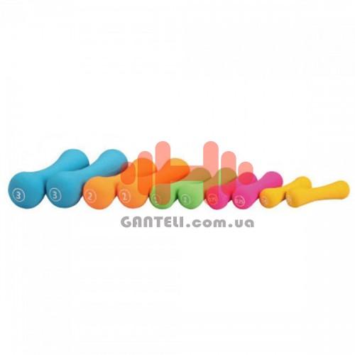 Гантели для фитнеса неопреновые LiveUp 2 х 1, код: LS2002-B1