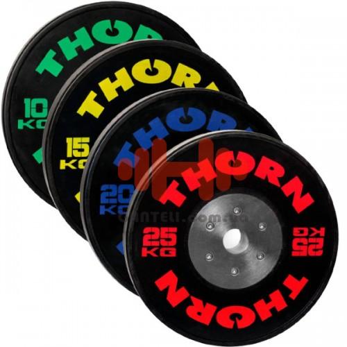 Комплект дисков Thorn 140 кг (обрезиненный D=50 мм), код: TH07