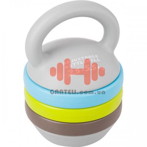 Гиря Torneo: Kettlebell Composing 2,5-5,5 кг., код: A-940